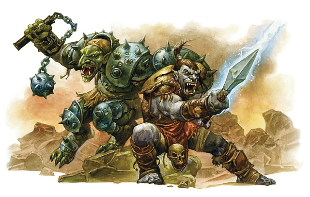 orc Orco e troll - by Zoltan Boros e Gabor Szikszai The Plane Above, Secrets of the Astral Sea (2010-04) © Wizards of the Coast & Hasbro