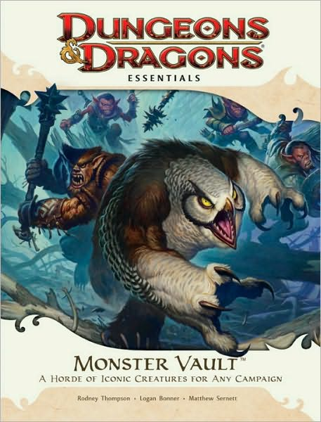 owl bear Orso gufo, goblin e bugbear D&D Essentials, Monster Vault (2010-11) © Wizards of the Coast & Hasbro