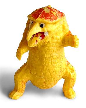 owl bear plastic toy Pupazzetto di plastica degli anni '70 made in Hong Kong, usato da Gygax come spunto per l'Orso gufo! ('70s) © unknown, made in Hong Kong