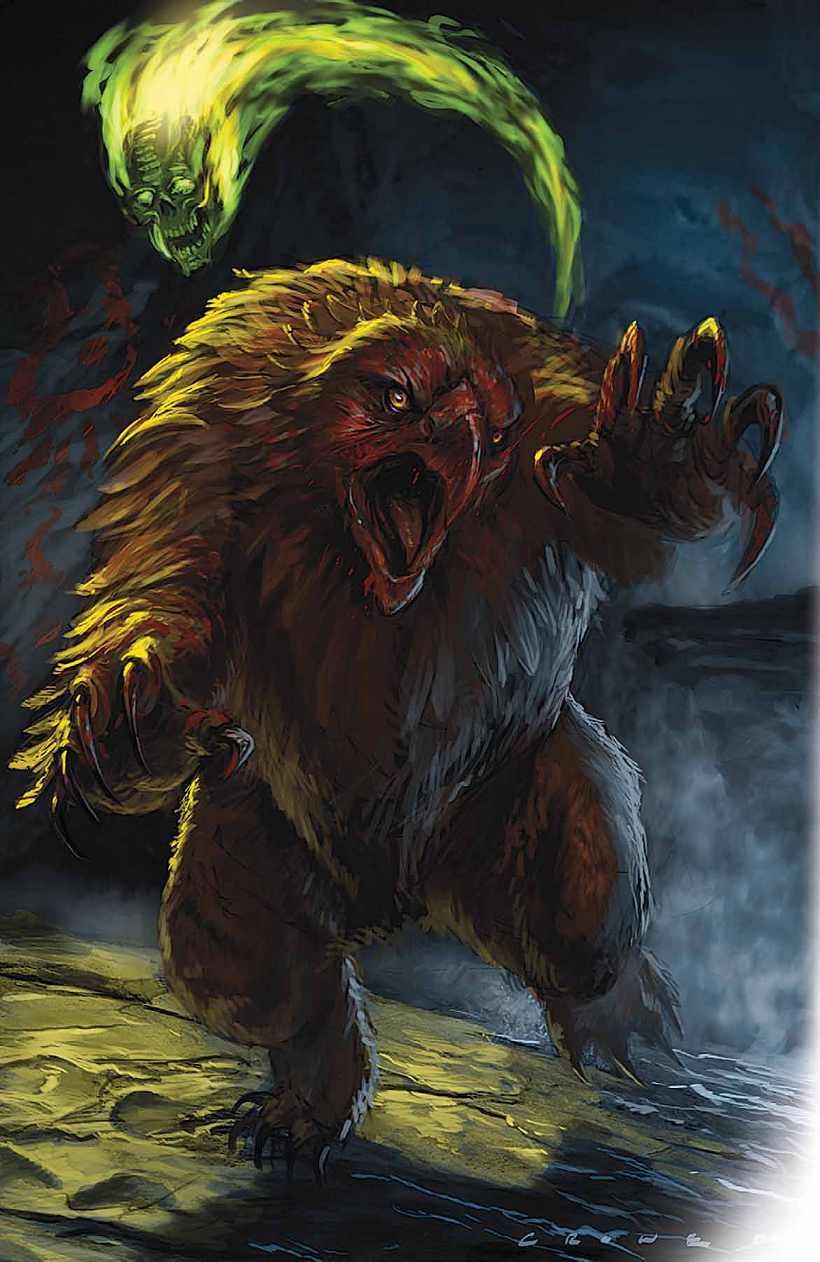 owl bear Orso gufo - by Stephen Crowe Dungeon Magazine #171 (2009-10) © Wizards of the Coast & Hasbro