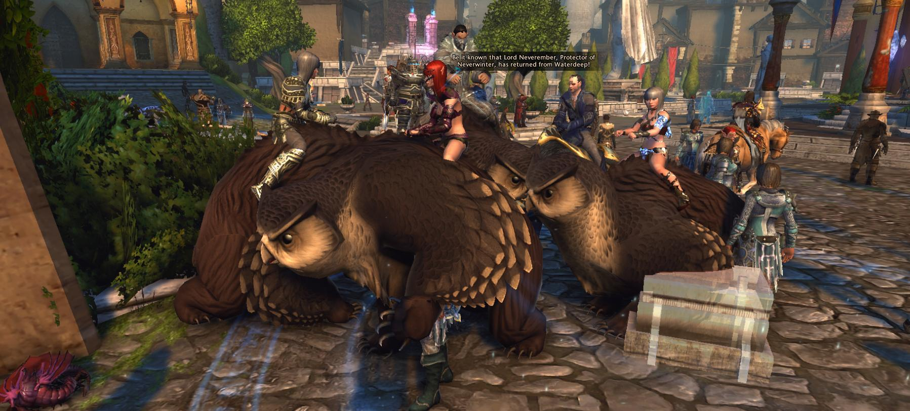 owl bear Orsi gufo a frotte, screenshot Videogame: Neverwinter Online (2013-06) © Cryptic Studios, Wizards of the Coast & Hasbro