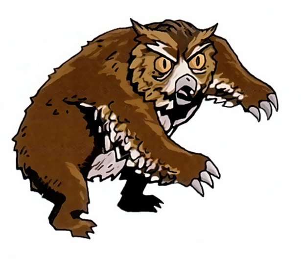 "owl bear Orso gufo SD - by Kyle Stanley Hunter ""Downer vol.1, Wandering Monster"" (2007) © Paizo Publishing, Wizards of the Coast & Hasbro"