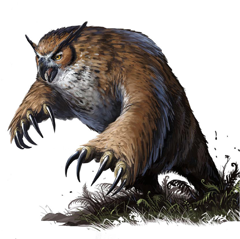 owl bear Orso gufo - by Ben Wootten Pathfinder Roleplaying Game, Bestiary (2009) © Paizo Publishing, Wizards of the Coast & Hasbro