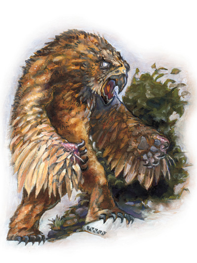 owl bear Orso gufo - by Matthew Mitchell Monster Manual v3.5 (2003) © Wizards of the Coast & Hasbro