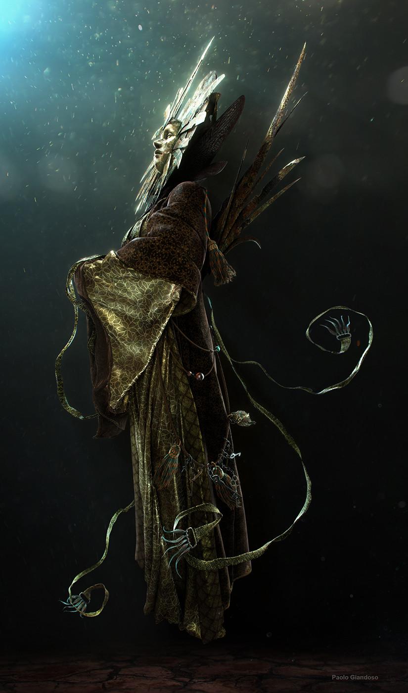 """giandoso lady of pain 3d """"Her Serenity"""", altro render di Sua Serenità, figura intera - by Paolo Giandoso www.artstation.com (01-2016) © dell'autore tutti i diritti riservati"""