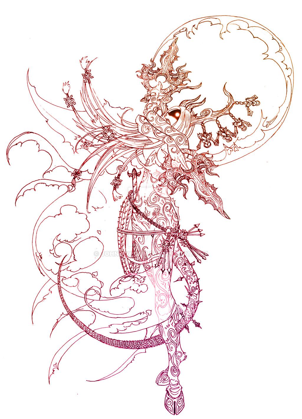 """johndowson devils """"Lilith, consort to Baalzebul"""", parte del progetto """"Consorts of the Arch-devils"""" - by Johndowson (Paolo Giandoso) johndowson.deviantart.com (2007) © dell'autore tutti i diritti riservati"""