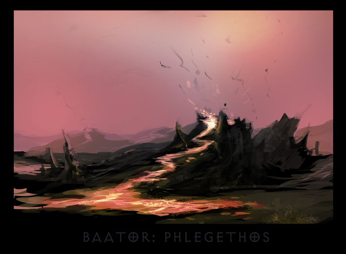 "ronamis ""Baator - Phlegethos"", cartolina dei Piani Esterni - by ronamis (Michael Malkin) ronamis.deviantart.com (2013) © dell'autore tutti i diritti riservati"
