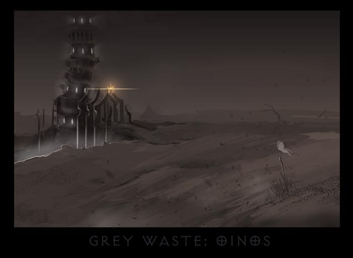 """ronamis """"Gray Waste - Oinos"""", cartolina dei Piani Esterni - by ronamis (Michael Malkin) ronamis.deviantart.com (2013) © dell'autore tutti i diritti riservati"""