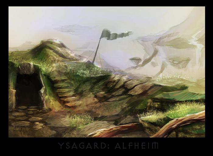 """ronamis """"Ysgard - Alfheim"""", cartolina dei Piani Esterni - by ronamis (Michael Malkin) ronamis.deviantart.com (2013) © dell'autore tutti i diritti riservati"""
