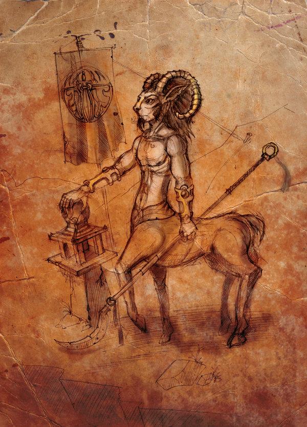 "ronamis bariaur ""Harmonium Guard Sketch"" - by ronamis (Michael Malkin) ronamis.deviantart.com (2010) © dell'autore tutti i diritti riservati"
