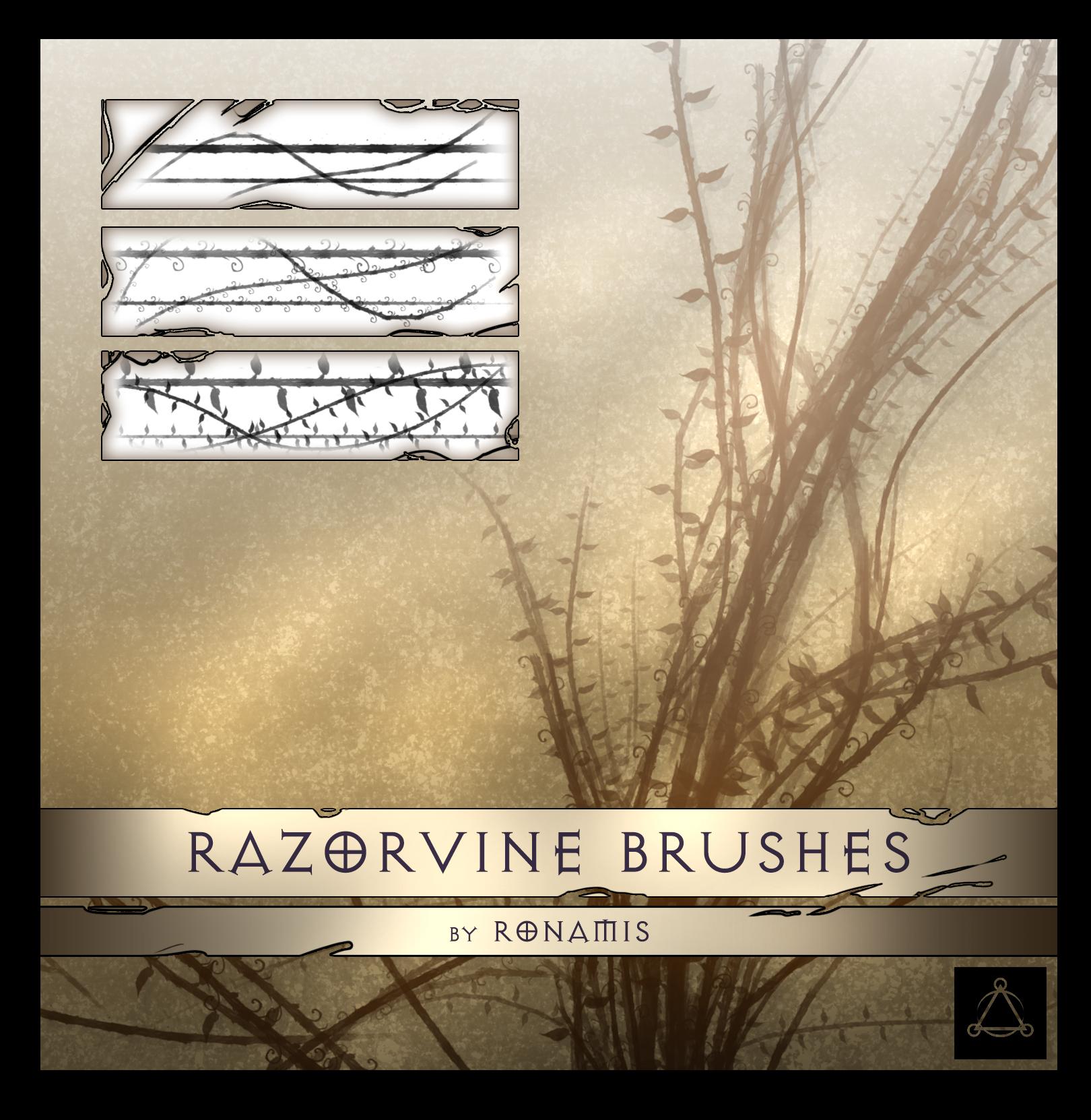 "ronamis ""Razorvine Brushes"" - by ronamis (Michael Malkin) ronamis.deviantart.com (2015) © dell'autore tutti i diritti riservati"