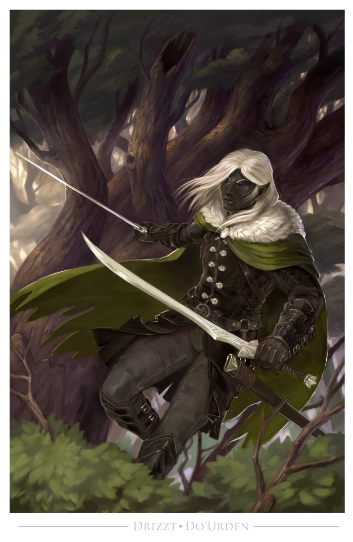 "stephen-wood ""Drizzt Do'Urden"" - by Stephen Wood wood-illustration.deviantart.com (2015-07) © dell'autore, tutti i diritti riservati"