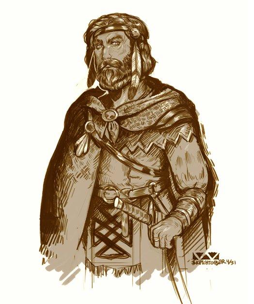 stephen-wood Sketchtober, Tanis sketch direttamente da Dragonlance - by Stephen Wood twitter.com/stevethegoblin (2017-10) © dell'autore, tutti i diritti riservati