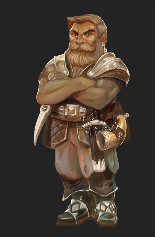 "stephen-wood ""Dwarf"", dettaglio da ""Race Lineup"" - by Stephen Wood wood-illustration.deviantart.com (2015-10) © dell'autore, tutti i diritti riservati"