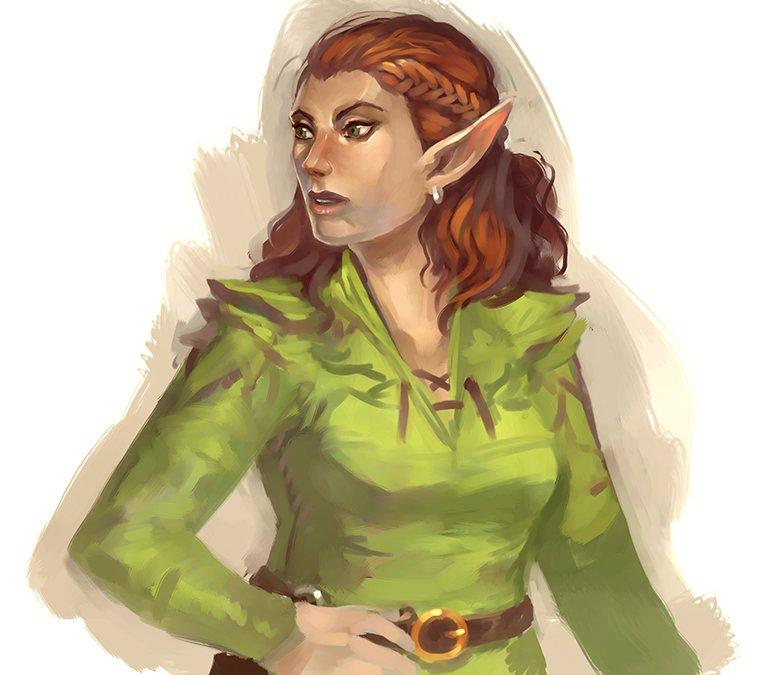 "stephen-wood ""Elf sketch"" - by Stephen Wood twitter.com/stevethegoblin (2016-02) © dell'autore, tutti i diritti riservati"