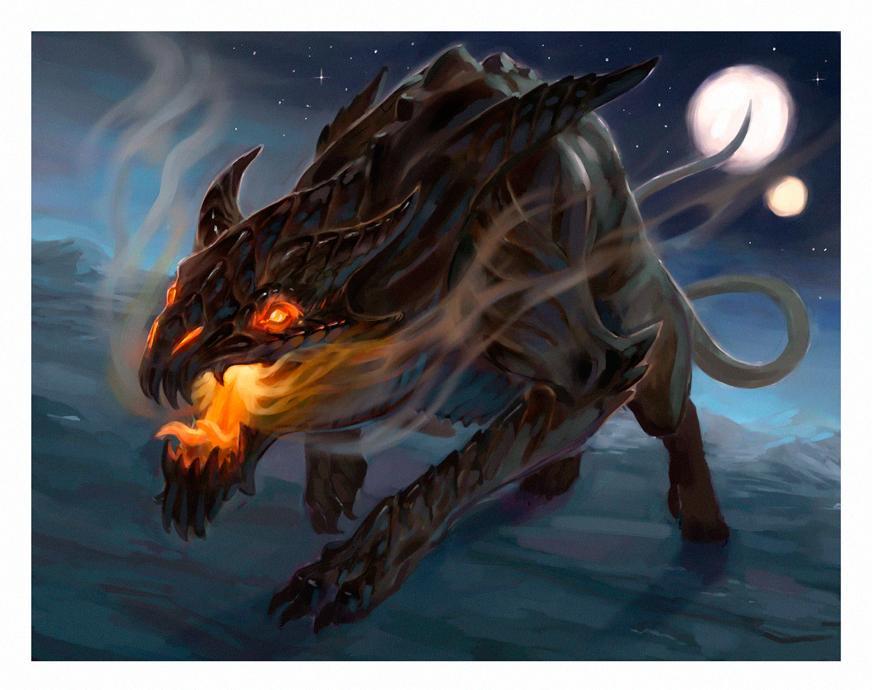 "stephen-wood ""Hell Hound"" - by Stephen Wood wood-illustration.deviantart.com (2015-01) © dell'autore, tutti i diritti riservati"
