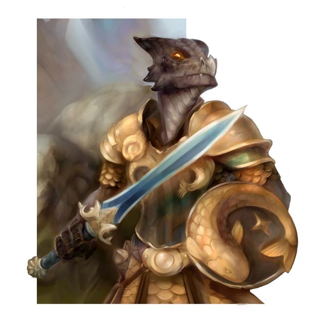 "stephen-wood ""Kobold Knight"" - by Stephen Wood wood-illustration.deviantart.com (2012) © dell'autore, tutti i diritti riservati"