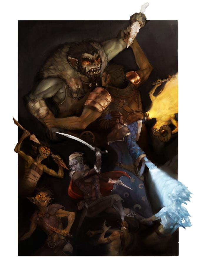"stephen-wood ""Goblinoid Attack"" - by Stephen Wood wood-illustration.deviantart.com (2012) © dell'autore, tutti i diritti riservati"