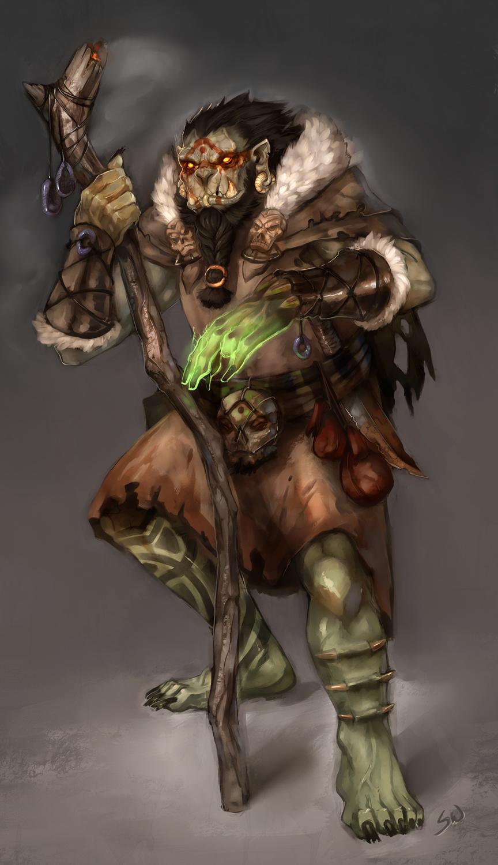 "stephen-wood ""Orc Shaman"" - by Stephen Wood wood-illustration.deviantart.com (2012) © dell'autore, tutti i diritti riservati"