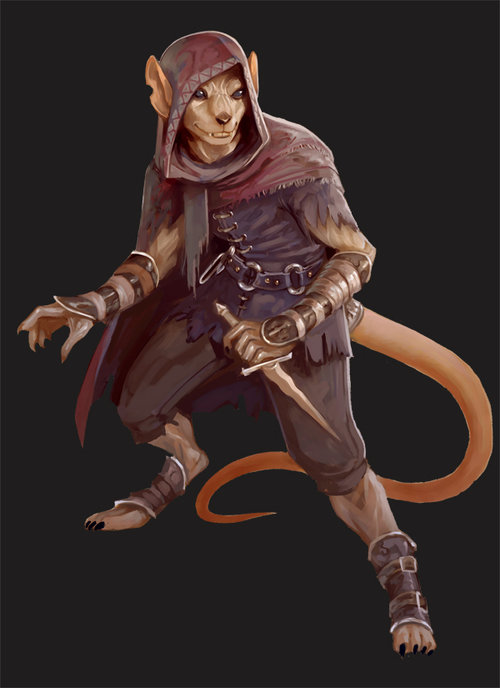 "stephen-wood ""Slithering Character"" ratfolk/beastman - by Stephen Wood www.sjwoodart.com (2016) © dell'autore, tutti i diritti riservati"