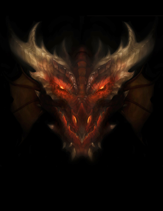 "stephen-wood ""Dragon Head"" - by Stephen Wood wood-illustration.deviantart.com (2012) © dell'autore, tutti i diritti riservati"