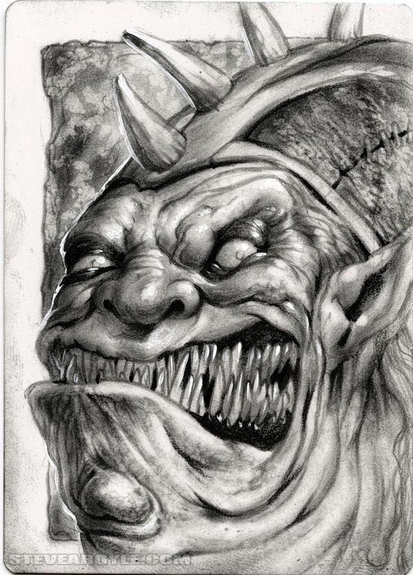 "Steve Argyle Amnizu, Artist Proof Sketch card contest a ""tema"" Planescape - by Steve Argyle steveargyle.tumblr.com (2015-09) © dell'autore tutti i diritti riservati"