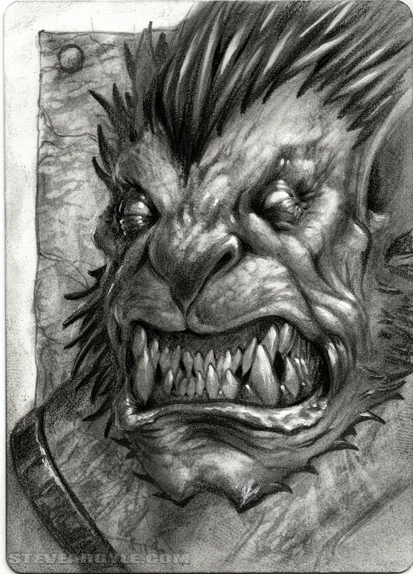 "Steve Argyle Balor, Artist Proof Sketch card contest a ""tema"" Planescape - by Steve Argyle steveargyle.tumblr.com (2015-09) © dell'autore tutti i diritti riservati"