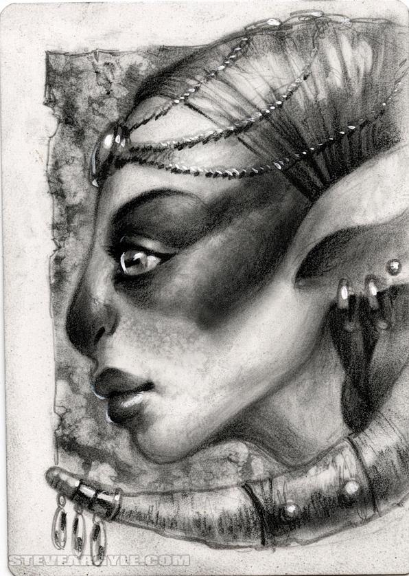 "Steve Argyle Cervidal, Artist Proof Sketch card contest a ""tema"" Planescape - by Steve Argyle steveargyle.tumblr.com (2015-09) © dell'autore tutti i diritti riservati"