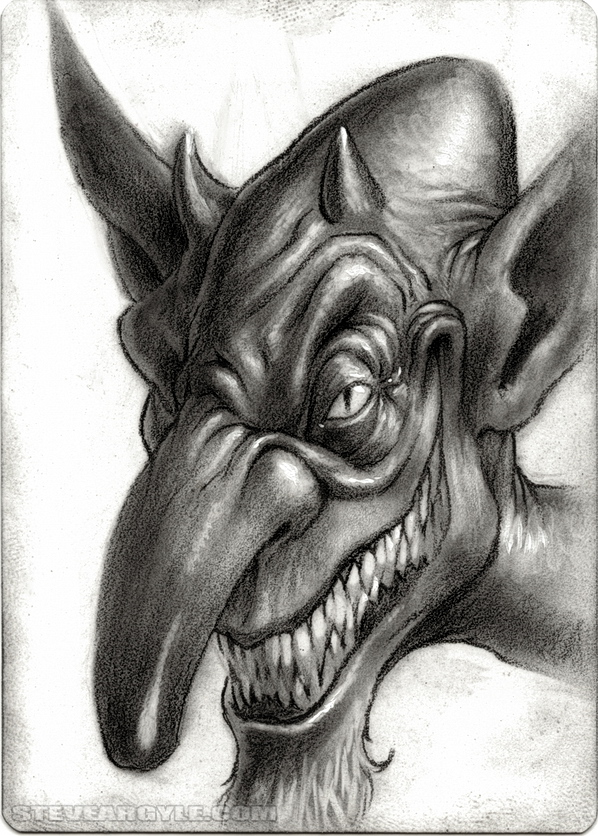"Steve Argyle Imp, Artist Proof Sketch card contest a ""tema"" Planescape - by Steve Argyle steveargyle.tumblr.com (2015-09) © dell'autore tutti i diritti riservati"