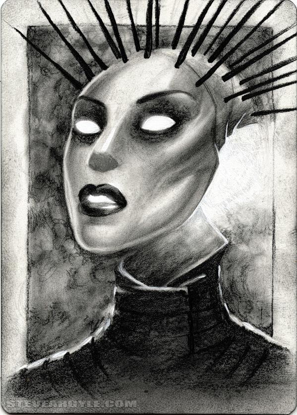 "Steve Argyle Parai, Artist Proof Sketch card contest a ""tema"" Planescape - by Steve Argyle steveargyle.tumblr.com (2015-09) © dell'autore tutti i diritti riservati"