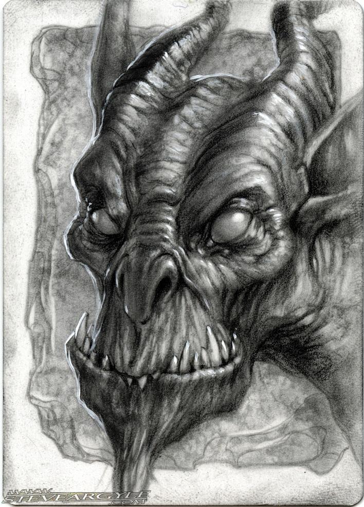 "Steve Argyle Quasit, Artist Proof Sketch card contest a ""tema"" Planescape - by Steve Argyle steveargyle.tumblr.com (2015-09) © dell'autore tutti i diritti riservati"