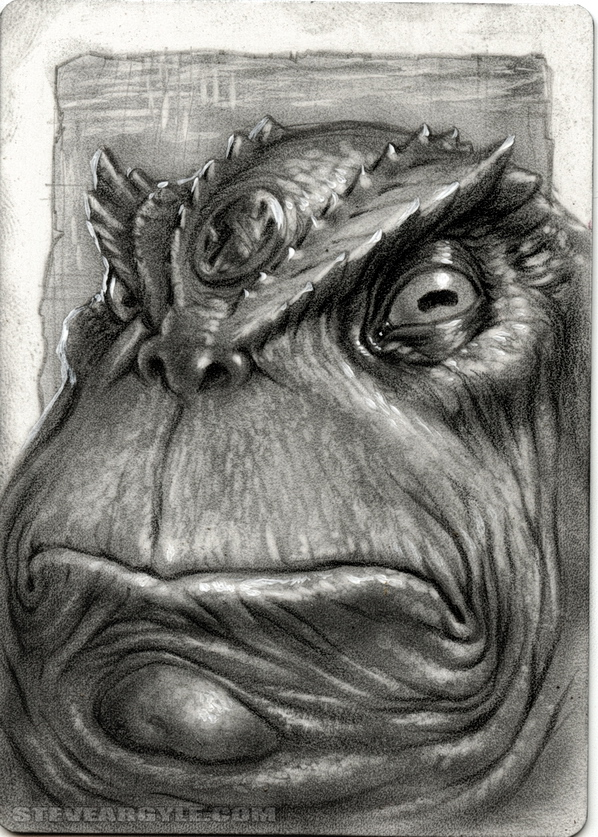 "Steve Argyle Slaad, Artist Proof Sketch card contest a ""tema"" Planescape - by Steve Argyle steveargyle.tumblr.com (2015-09) © dell'autore tutti i diritti riservati"