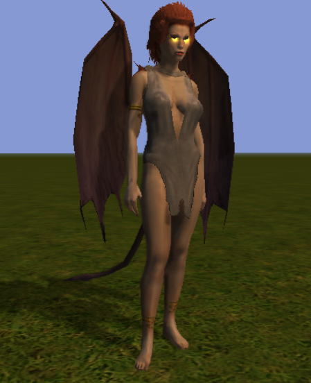 succubus Succube, screenshot dall'editor Videogame: NeverWinter Nights 2 (2006-10) © Atari, Wizards of the Coast e Hasbro