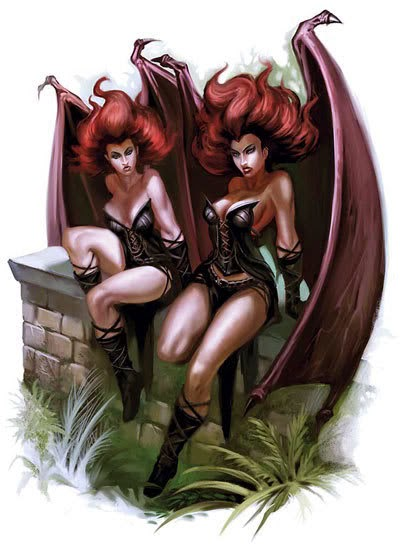 succubus Succubi, artwork (originario) - by Miguel Coimbra Monster Manual (2008-06) © Wizards of the Coast e Hasbro