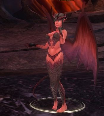 succubus Succube, screenshot di gioco Videogame: Dungeons & Dragons Online, Stormreach (2006-2011) © Atari, Wizards of the Coast e Hasbro