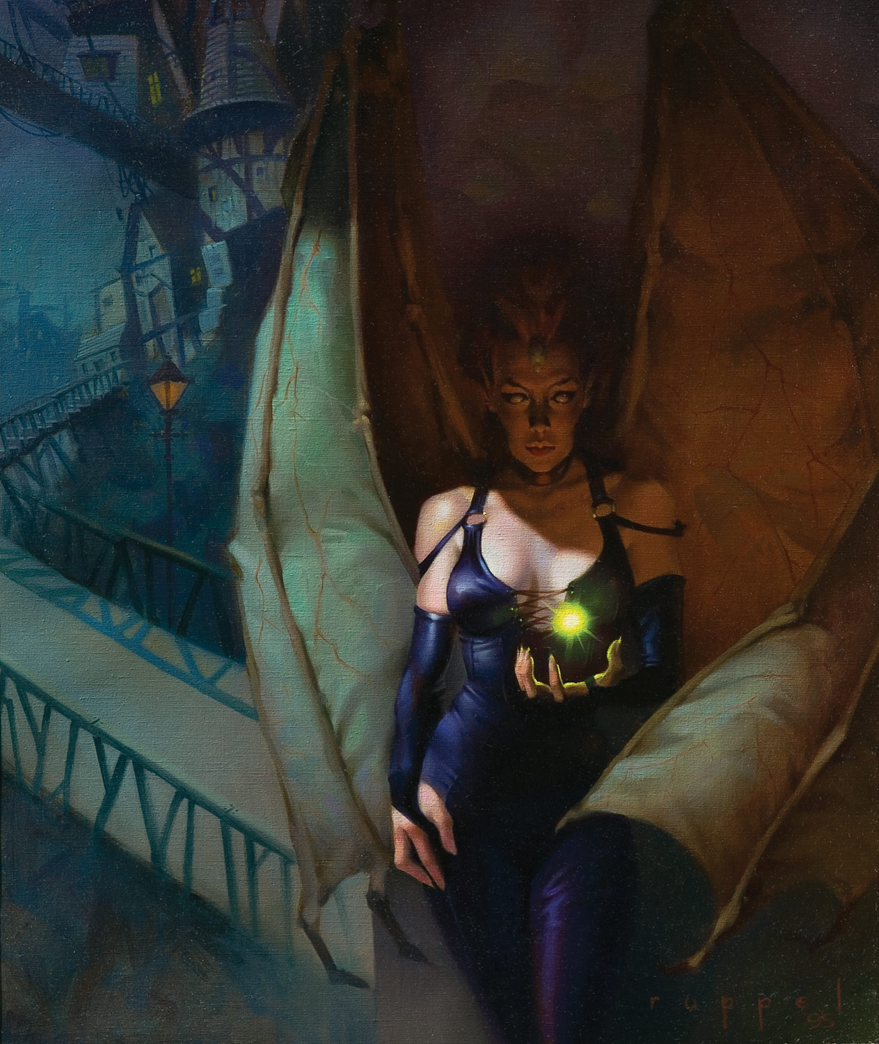 succubus Nari la succube in copertina - by Robh Ruppel Harbringer House (1995-07) © TSR