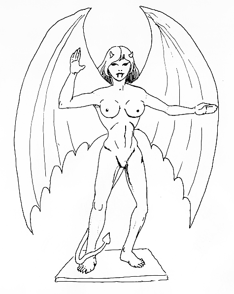 succubus Succube - by David C. Sutherland III Old Dungeons & Dragons Supplement III, Eldritch Wizardry (1976-04) © TSR