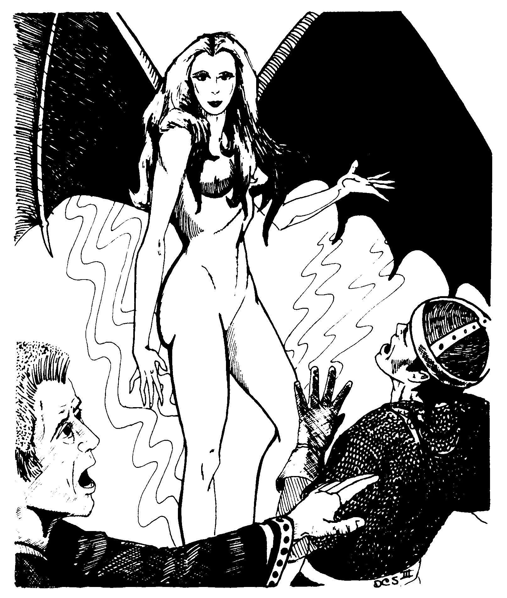 succubus Succube - by David C. Sutherland III Vault of the Drow (1978-12) © TSR