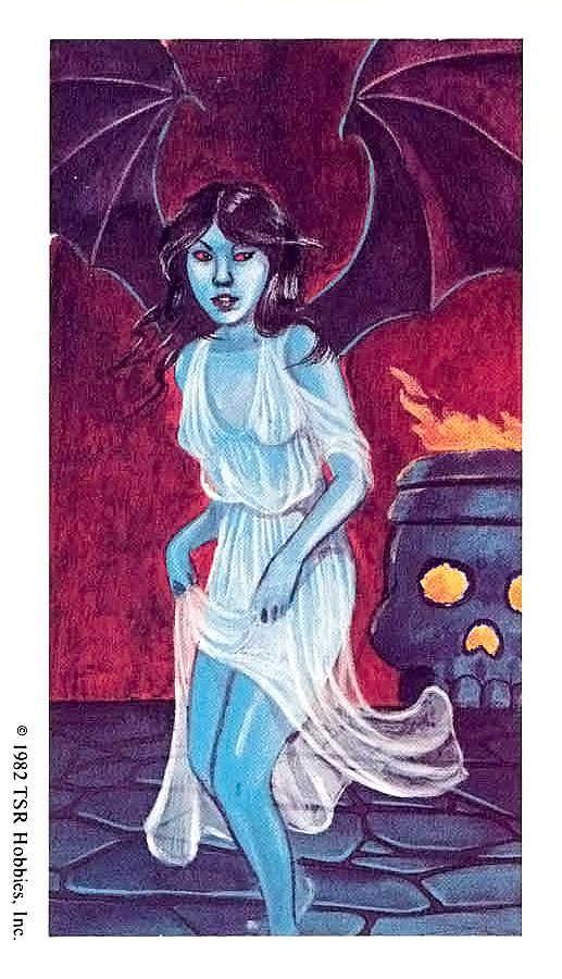 succubus Carta Succube - by Jim Holloway Advanced Dungeons & Dragons 1st ed. Monster Cards, Set 4 (1982) © TSR