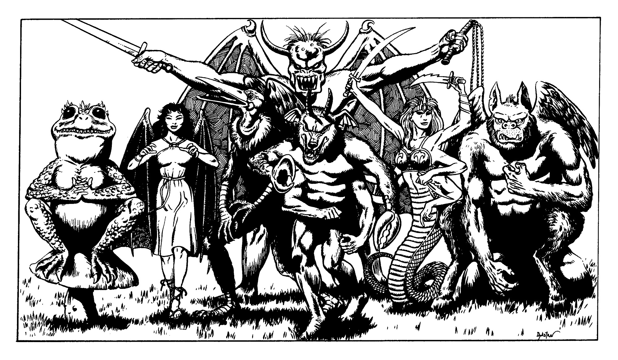 "succubus Demoni ""D&D classic"": Croaking (hezrou), Whispering (succube), Screaming (vrock), Roaring (balor), Howling (glabrezu), Hissing (marilith), Groaning (nalfeshnee) - by Terry Dykstra Wrath of the Immortals (1992-07) © TSR"