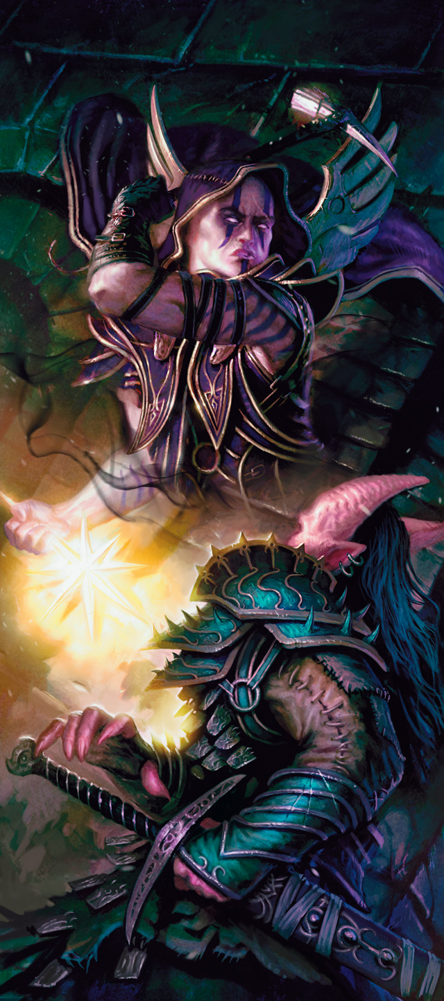 planetouched d&d Tiefling e deva - by Mathias Kollros Dragon Magazine #402 (2011-08) © Wizards of the Coast & Hasbro