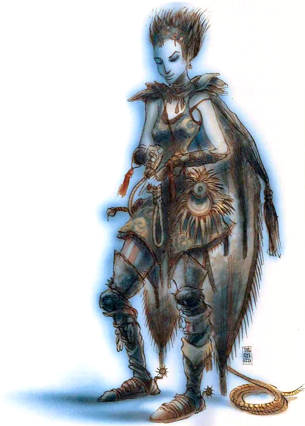 tiefling Factol Alisohn Nilesia dei Giustizieri, tiefling - by Tony Diterlizzi TSR - The Factol's Manifesto (1995-06) © Wizards of the Coast & Hasbro