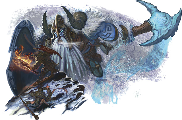 frost giant d&d Tiefling e gigante del gelo - by William O'Connor Rules Compendium (2010-09) © Wizards of the Coast & Hasbro