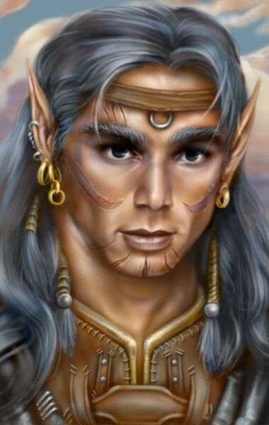 planetouched Portrait di Haer'Dalis il tiefling Baldur's Gate 2, Shadows of Amn (2000-09) © Bioware Studios, Wizards of the Coast & Hasbro