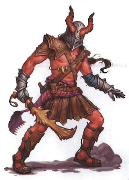 {$tags} Tiefling, Zeburon - by Matt Dixon Dark Sun Creature Catalog (2010-08) © Wizards of the Coast & Hasbro