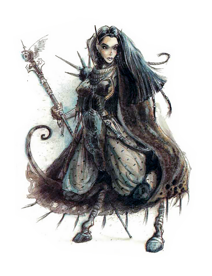 {$tags} Rhys la tiefling, factol dei Cifrati - by Tony Diterlizzi TSR Planescape Campaign Setting, A Player's Guide to the Planes (1994-04) © Wizards of the Coast & Hasbro