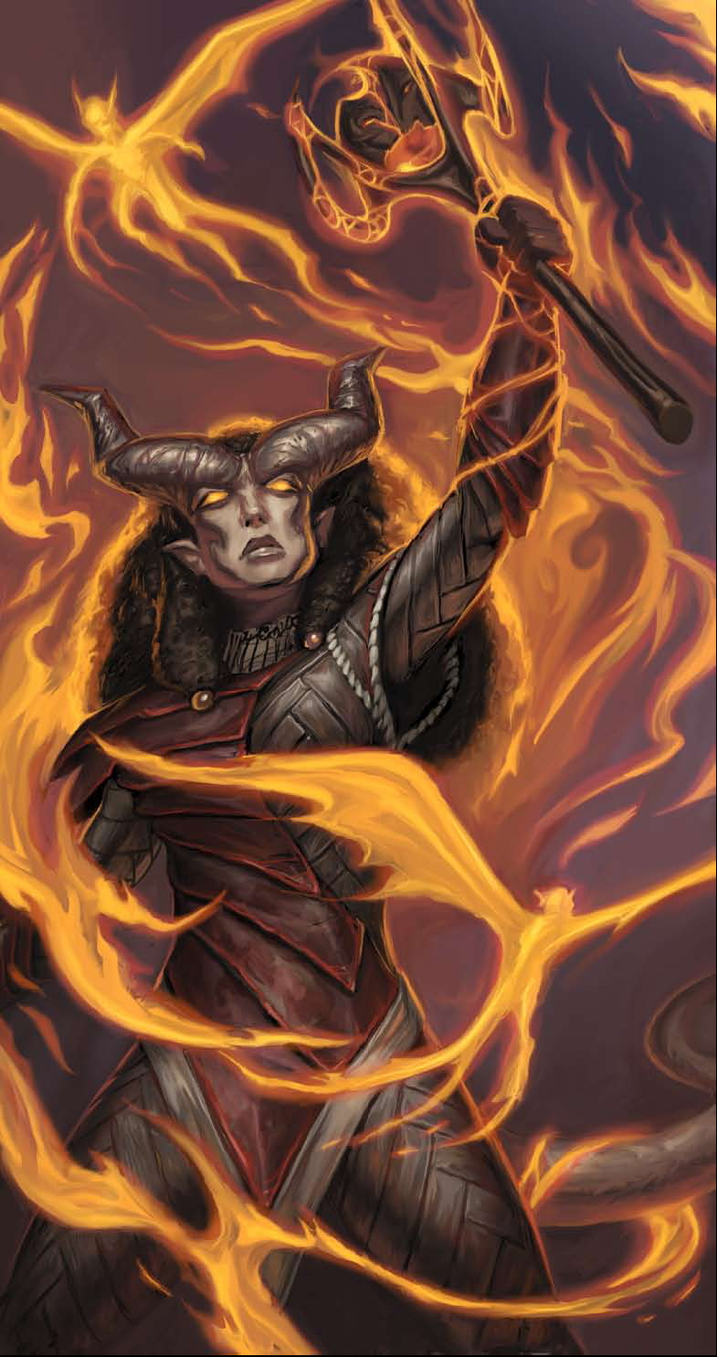 {$tags} Tiefling, hellbound mage - by Matt Cavotta Dragon Magazine #374 (2009-04) © Wizards of the Coast & Hasbro