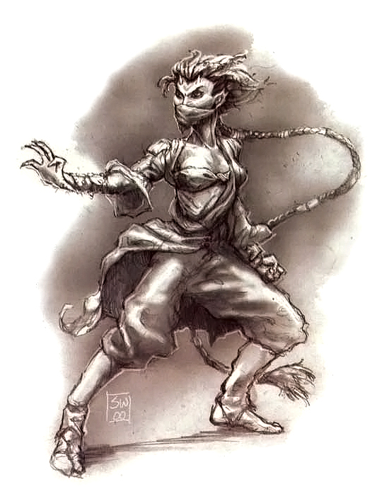 {$tags} Tiefling monaco - by Sam Wood Forgotten Realms Campaign Setting (2001-06) © Wizards of the Coast & Hasbro