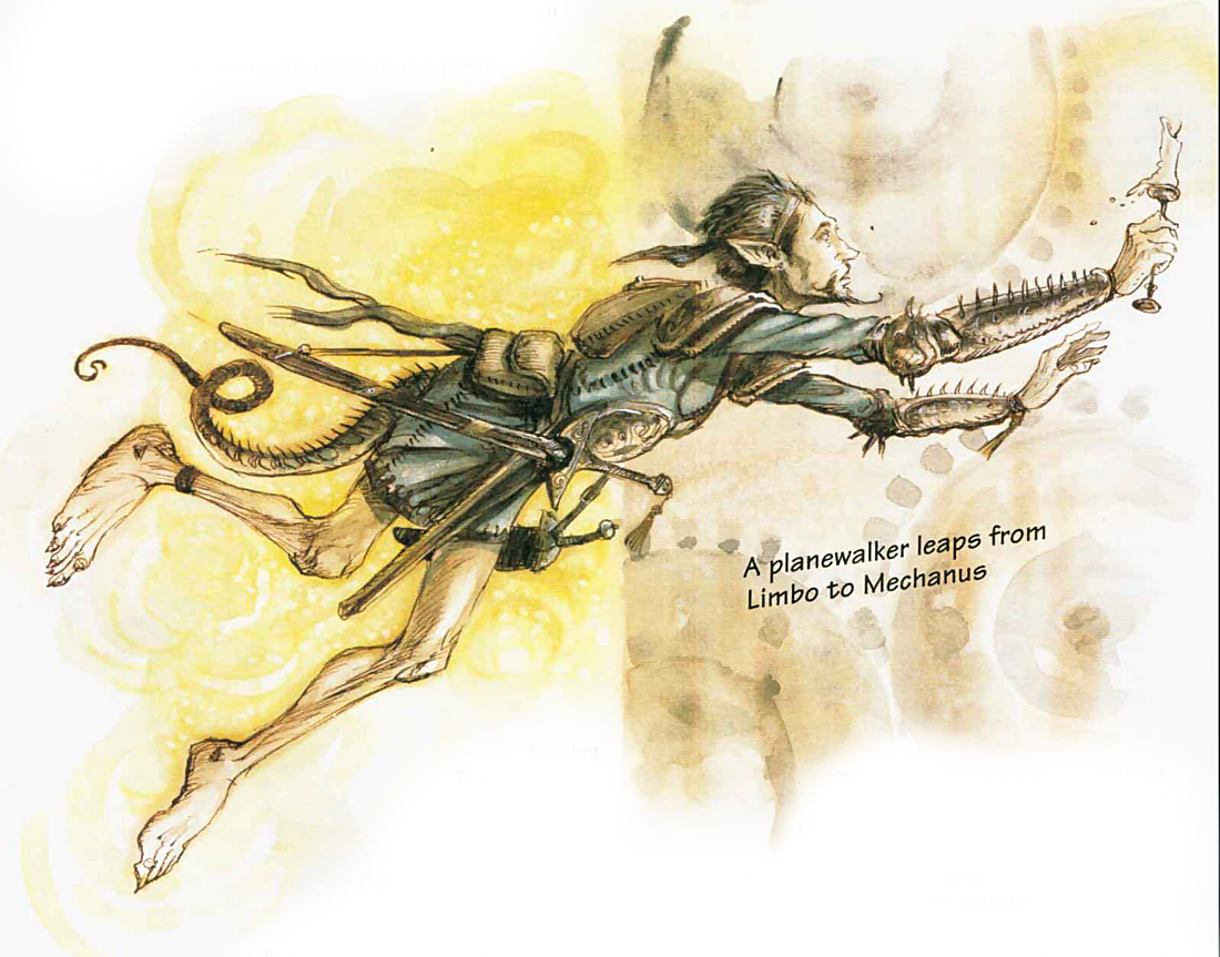 {$tags} Tiefling planewalker passa da Limbo a Mechanus - by Tony Diterlizzi TSR - The Planewalker's Handbook (1996-08) © Wizards of the Coast & Hasbro