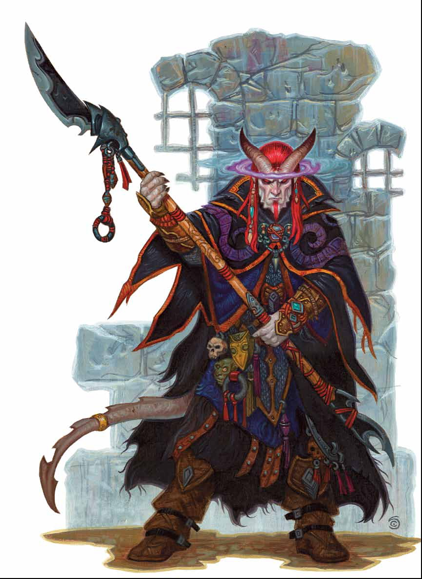 {$tags} Tiefling psionicista - by Chris Seaman Dragon Magazine #382 (2009-12) © Wizards of the Coast & Hasbro